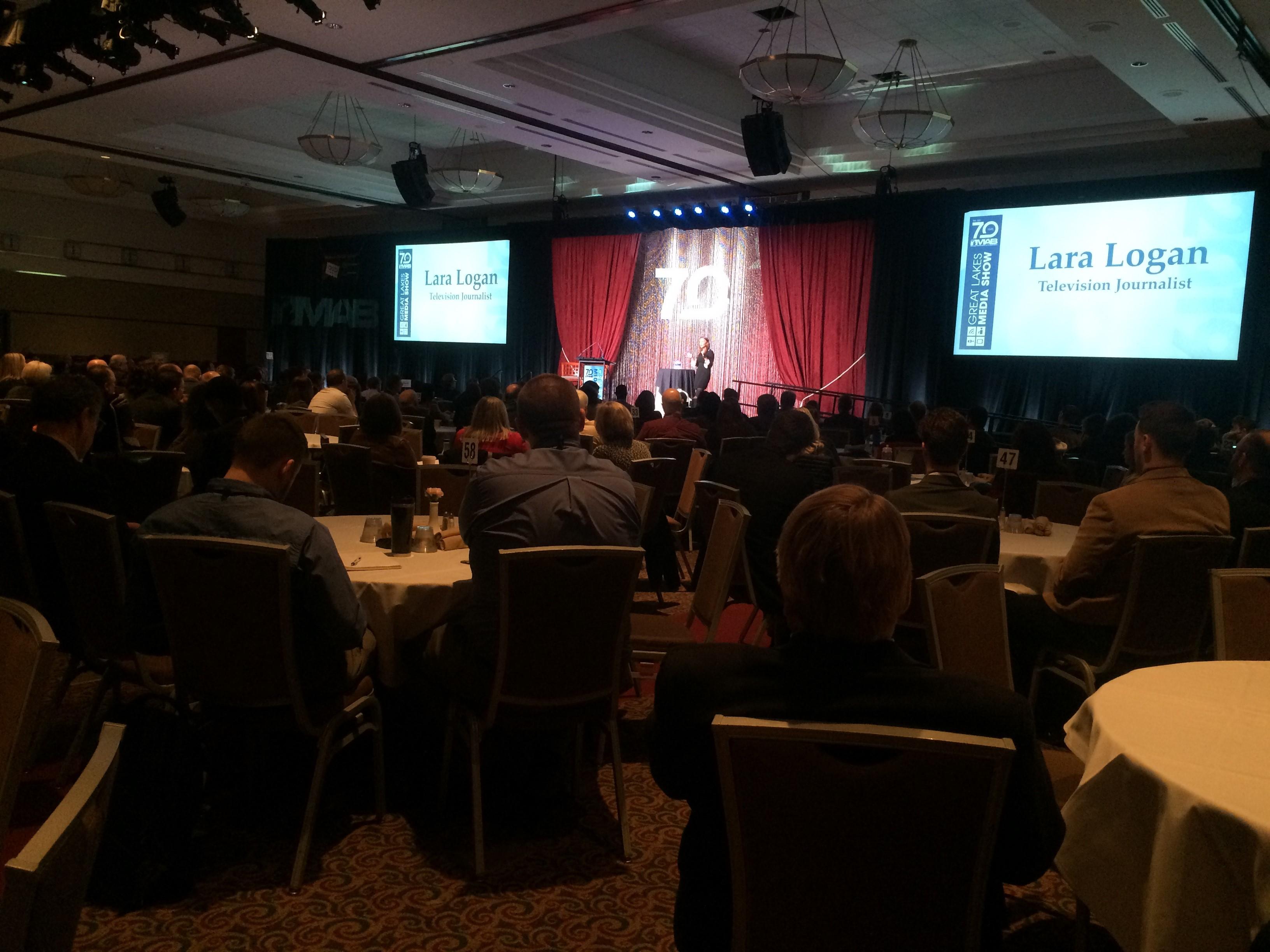 Lara Logan at MAB as the Keynote Speaker.